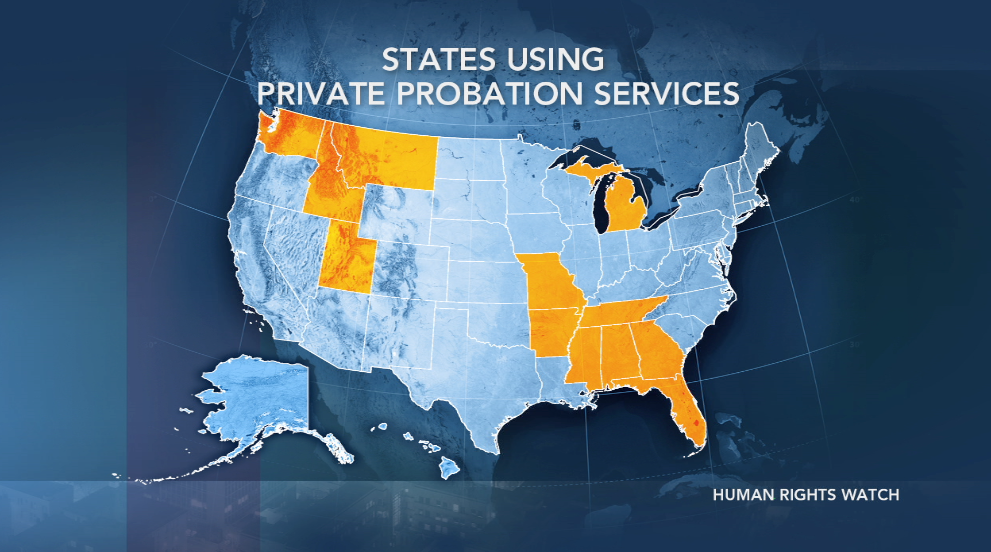States with Private Probation
