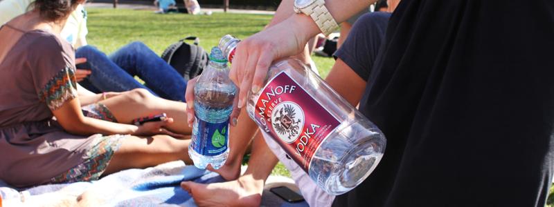 Vodka in a water bottle