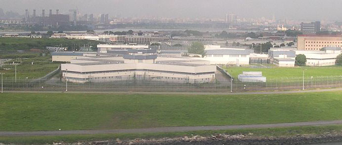 """Rikers Island"" by User Sfoskett on en.wikipedia. Licensed under CC BY-SA 3.0 via Wikimedia Commons - http://commons.wikimedia.org/wiki/File:Rikers_Island.jpg#mediaviewer/File:Rikers_Island.jpg"
